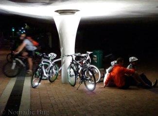 bicycles at night