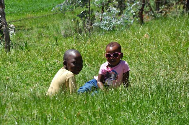 Kids in the long grass